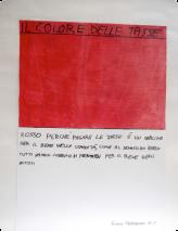 Rot, weil Steuern zahlen eine Pflicht für das Gemeinwohl ist, so wie an einer roten Ampel alle halten müssen für das Wohl aller Fahrer. Giulia Crescentini Klasse II F