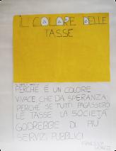 J'ai choisi le jaune parce que c'est une couleur vive, porteuse d'espoir ; car si tout le monde payait ses impôts, la société aurait plus de services publics. Francesca Giorgi, CM1