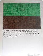 Ich habe die Farbe Grün als Bezug auf die Steuern gewählt, weil sie mich an die Hoffnung erinnert, mit der man Dienstleistungen kauft, die Italien nützlich sind.  Ich habe die Farbe Braun als Bezug auf die Steuern gewählt, weil sie mich an den Hunger in der Welt erinnert. Possenti Paolo II F