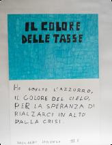 Ich habe Hellblau gewählt, die Himmelsfarbe, in der Hoffnung, dass wir uns aus der Krise wieder in die Höhe erheben. Zaccagni Lorenzo III E