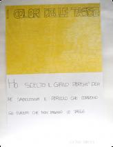 Ich habe die Farbe Gelb gewählt, weil sie für mich die Gefahr symbolisiert, welche den Steuerhinterziehern droht, die keine Steuern bezahlen. Kristina Martini