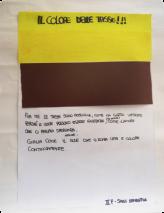 Für mich sind die Steuern rötlich wie Schmirgelpapier, weil sie gelegentlich unangenehm sind, aber auch wie die Liebe, die uns Hoffnung schenkt; auch: gelb wie die Sonne, die uns stetig Leben und Wärme schenkt. Samantha Salvi Klasse II F